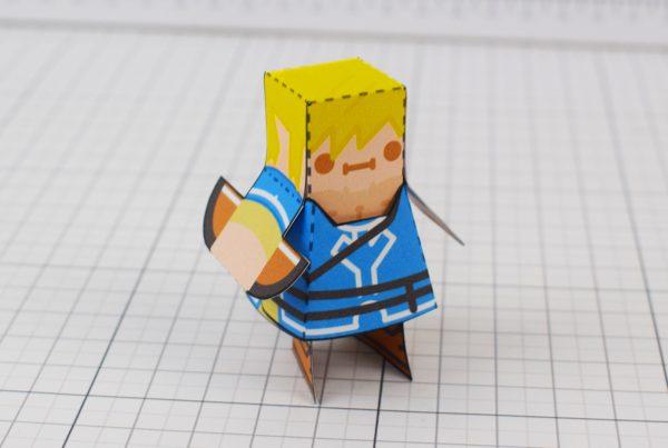 PTI Zelda Breath of the Wild LinkGuardian Paper Toy Image - Link
