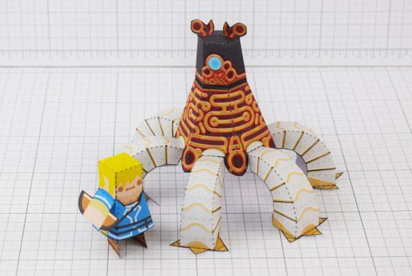 PTI Zelda Breath of the Wild LinkGuardian Paper Toy Image - Main