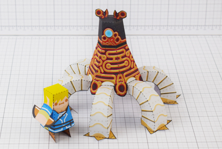 THU Zelda Breath of the Wild LinkGuardian Paper Toy Image - Thumbnail