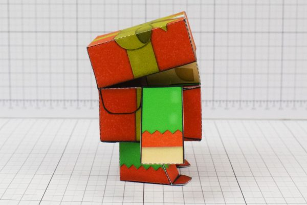 PTI Christmas Paper Toy Craft Decoration CuteBox Elf Image - Side