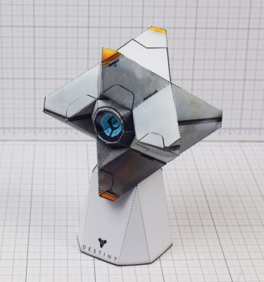 PTI Destiny Ghost Fan Art Paper Craft Image - With Stand