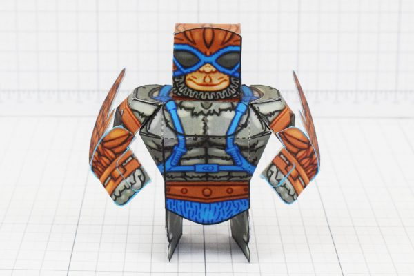 PTI Eternians Stratos MOTU Fan Art Paper Craft Image - Front