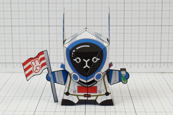 PTI Moon Rabbit Paper Craft Image - Front