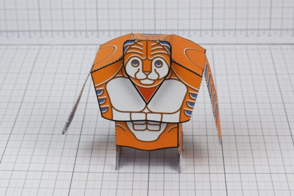 PTI Papa Tony the Tiger Fan Art Paper Toy Top Image - Front
