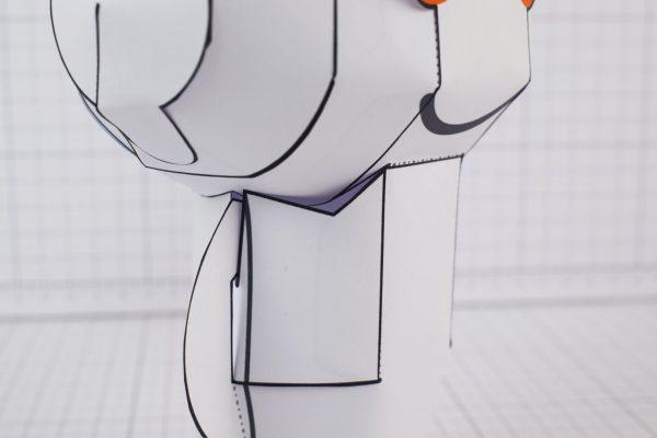 PTI Reddit Snoo Mascot Paper Craft Toy Image - Neck