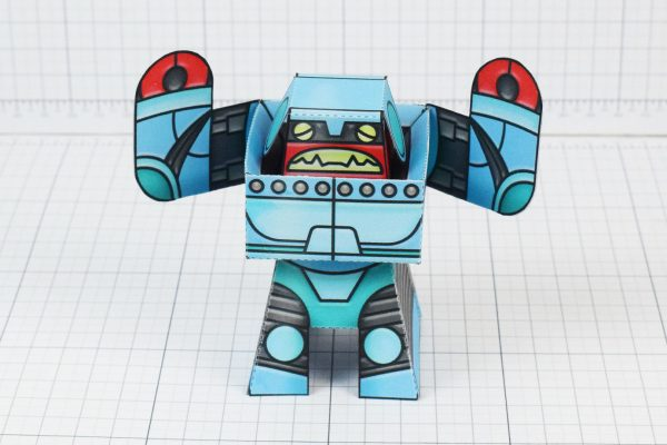 PTI Rumbolt Retro Robot Paper Toy Image - Front