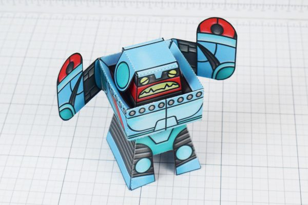 PTI Rumbolt Retro Robot Paper Toy Image - Top