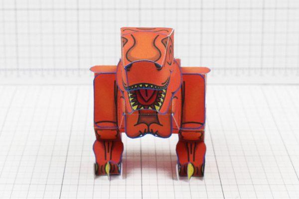 Twinkl dinosaur Tyrannosaurus paper toy craft model educational printable graphic design Alex Gwynne