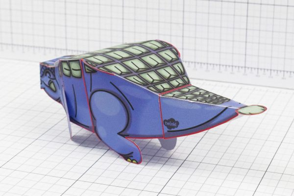 Twinkl dinosaur Ankylosaurus paper toy craft model educational printable graphic design Alex Gwynne