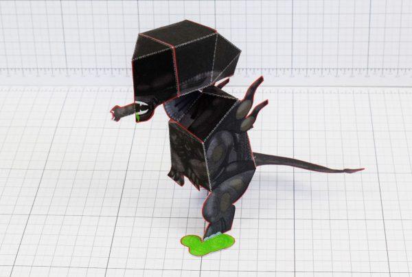 PTI - Xenomorph Alien Fan Art Paper Toy Craft Image - Main