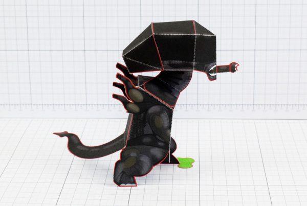 PTI - Xenomorph Alien Fan Art Paper Toy Craft Image - Side