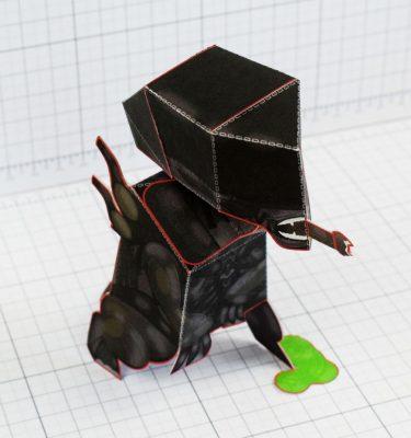 PTI - Xenomorph Alien Fan Art Paper Toy Craft Image - Top