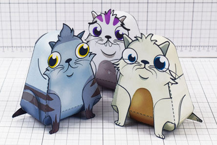 THU Crypto Kitties Paper Craft Toy 3D Wave 1 Image - Thumbnail
