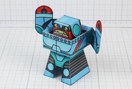 THU Rumbolt Retro Robot Paper Toy Image - Thumbnail