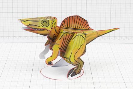 Twinkl dinosaur Spinosaurus paper toy craft model educational printable graphic design Alex Gwynne