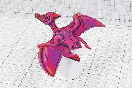 Twinkl dinosaur pterodactyl paper toy craft model educational printable graphic design Alex Gwynne