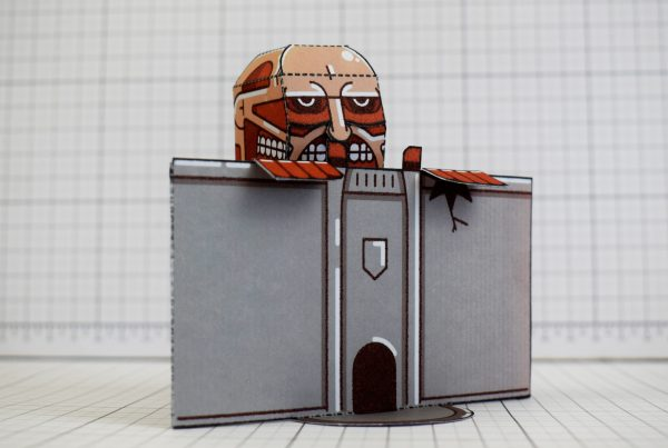 PTI - Colossal Titan - Attach On Titan Paper Toy Craft Model Image - Midhight