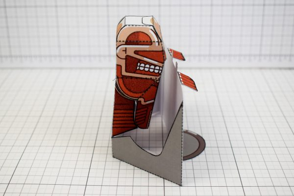 PTI - Colossal Titan - Attach On Titan Paper Toy Craft Model Image - Side