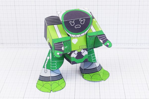 PTI February Patreon paper craft robot stalker v6 image -main