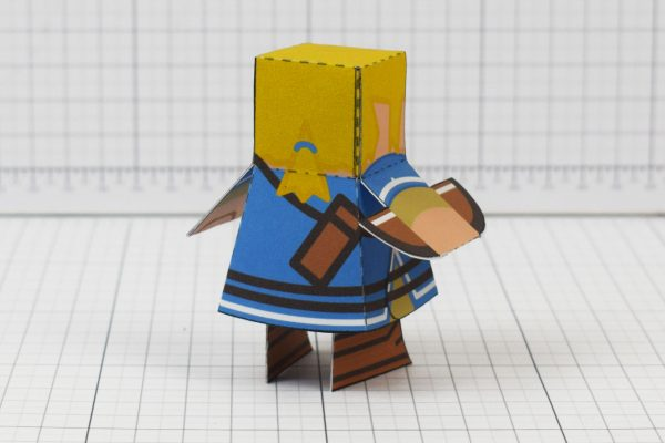PTI Link paper toy fan art image - back