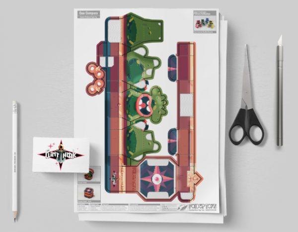 MU - Captain Flinthook Goo Compass Paper Toy Craft Model Image - Mockup