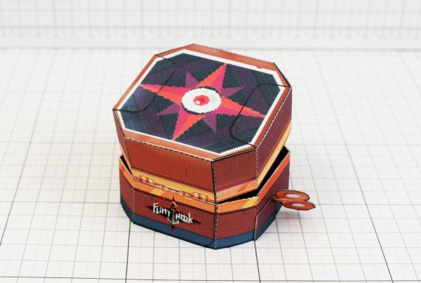 PTI - Captain Flinthook Goo Compass Paper Toy Craft Model Image - Back
