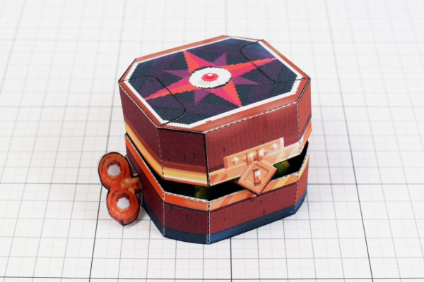 PTI - Captain Flinthook Goo Compass Paper Toy Craft Model Image - Closed