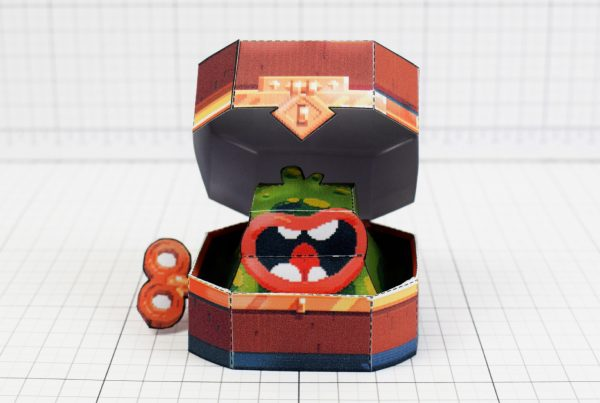 PTI - Captain Flinthook Goo Compass Paper Toy Craft Model Image - Front