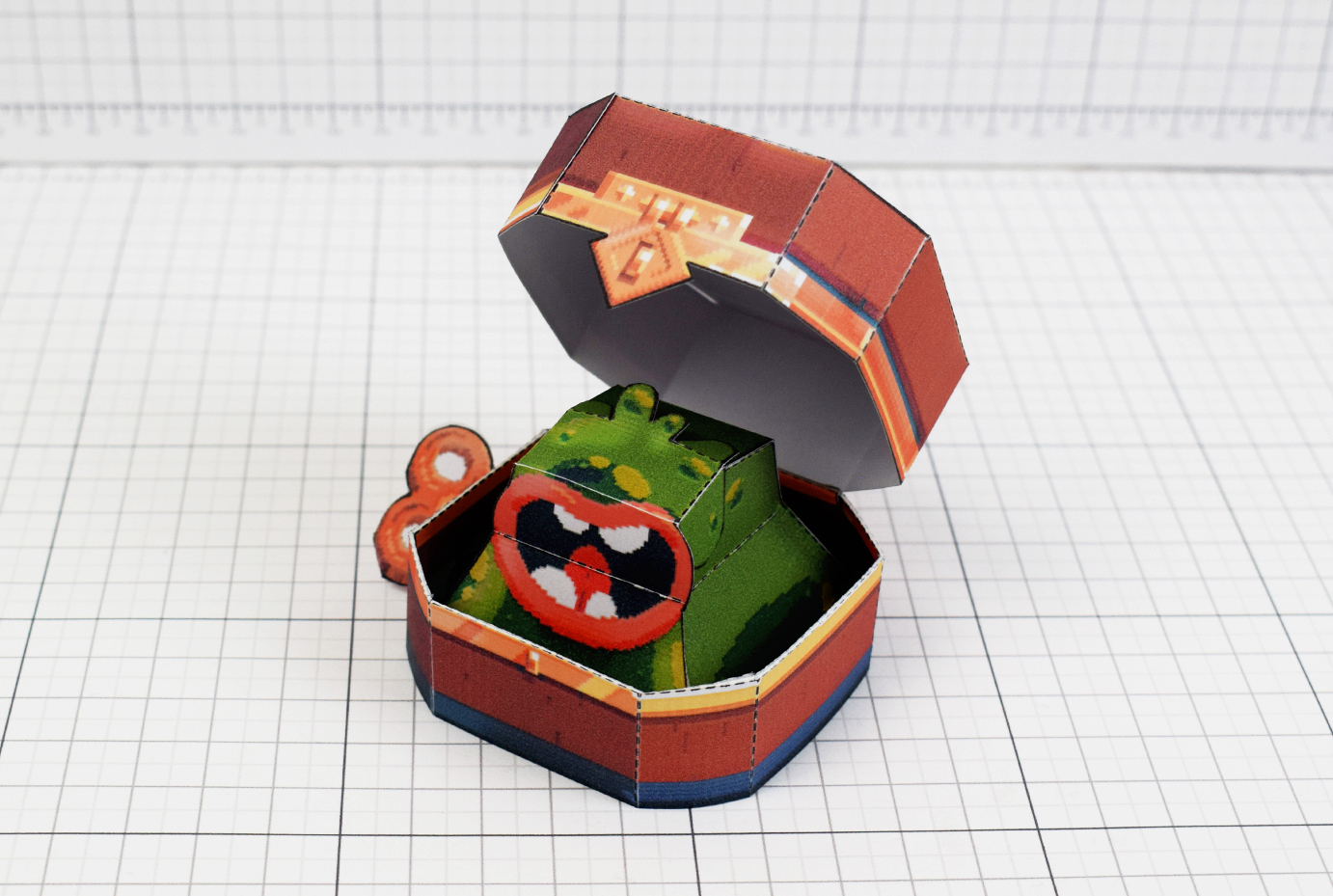 PTI - Captain Flinthook Goo Compass Paper Toy Craft Model Image - Main