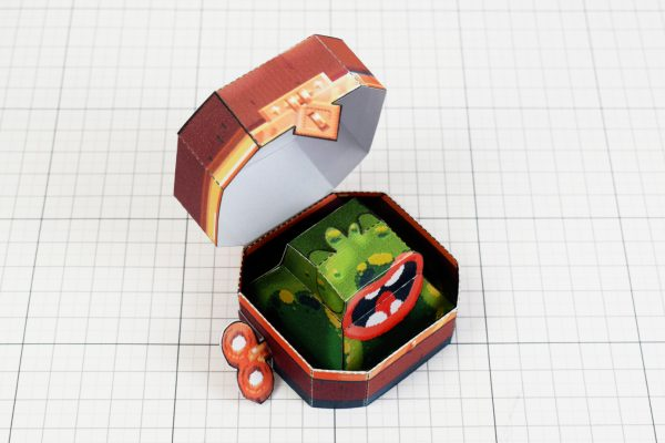 PTI - Captain Flinthook Goo Compass Paper Toy Craft Model Image - Top