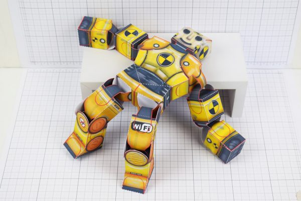 PTI Crash Test Dummy Paper Toy Model Image - Fallen 2
