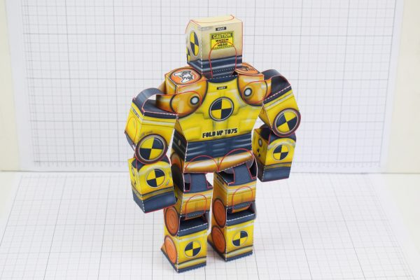 PTI Crash Test Dummy Paper Toy Model Image - Stood Back