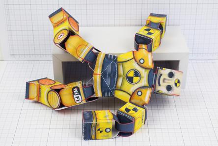 THU Crash Test Dummy Paper Toy Model Image - Thumbnail