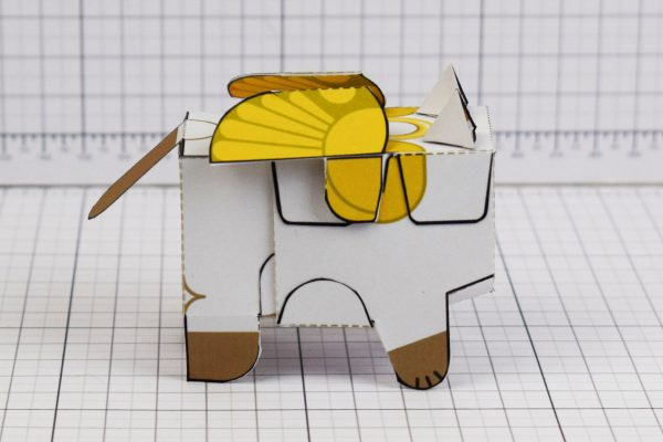 PTI- Flying Cat Paper Toy Image - Side
