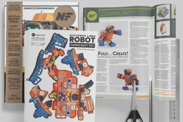 MU - Nintendo Labo Robot Paper Toy Craft Image - Mockup