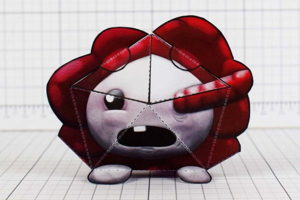PTI - Gurglings - Binding of Isaac Paper Toy Model - Face