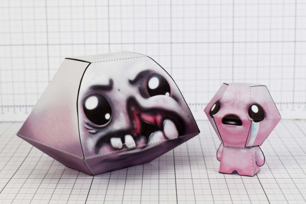 PTI - Monstro - Binding of Isaac - Paper Toy Image - With Isaac