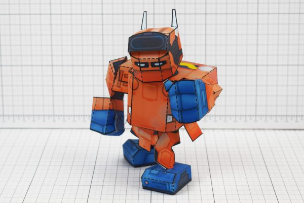 PTI - Nintendo Labo Robot Paper Toy Craft Image - B Front Punch