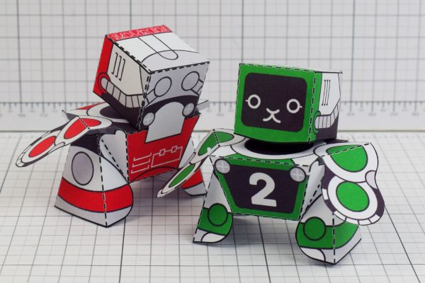 PTI Patreon 2018 Microbots Paper Toy Photo - Back