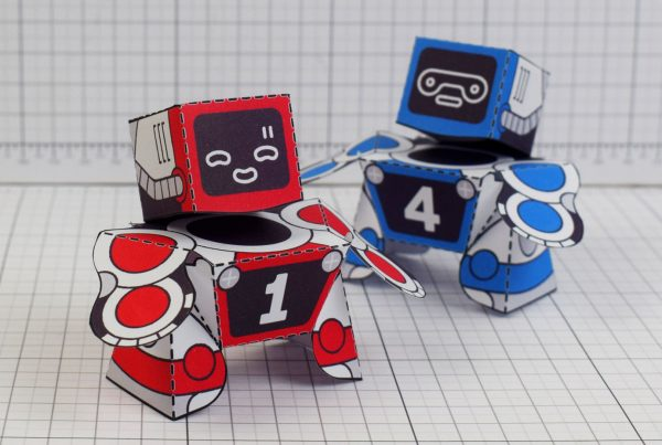 PTI Patreon 2018 Microbots Paper Toy Photo - Group 2