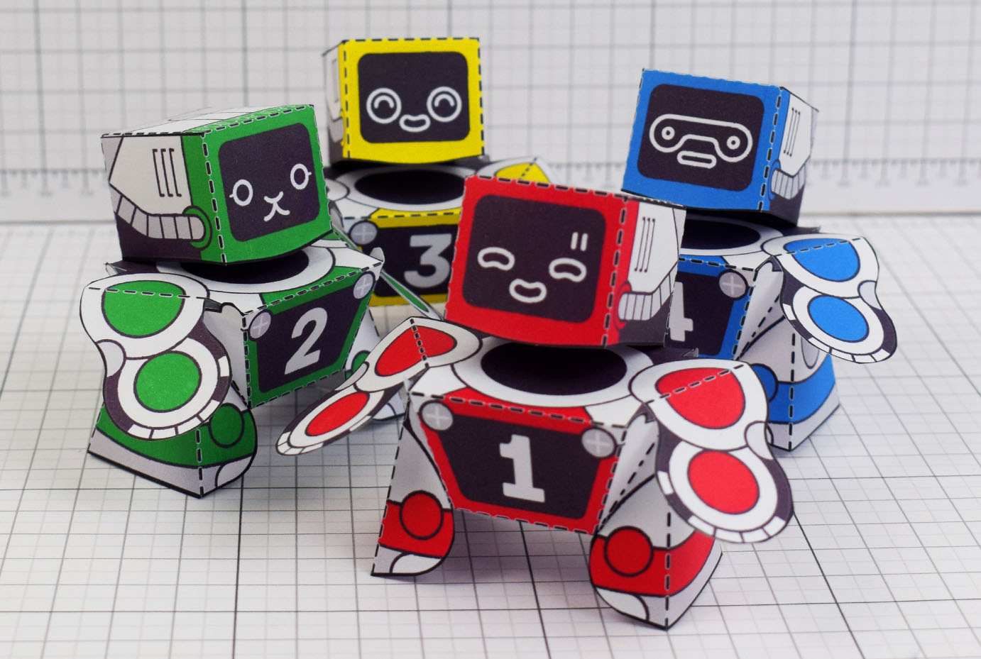 PTI Patreon 2018 Microbots Paper Toy Photo - Main