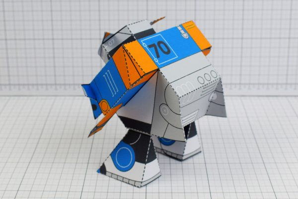 PTI Patreon March - Utilitrap Paper Toy Photo - Back