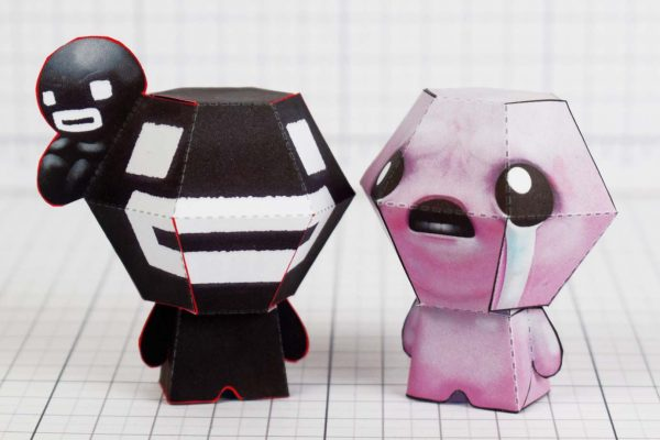 PTI- Steven - Binding of Isaac Paper Toy Image - Isaac - Time Fcuk