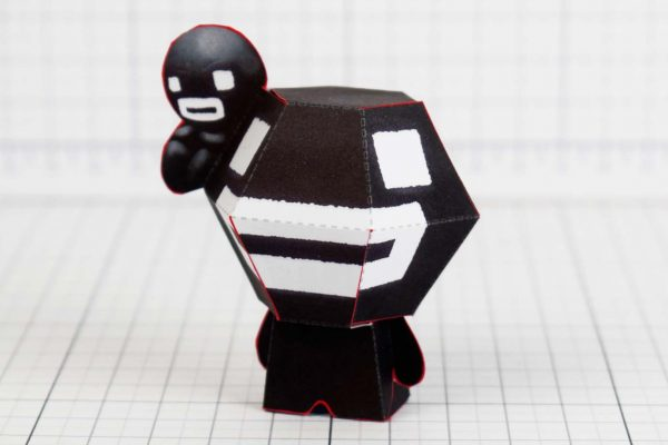 PTI- Steven - Binding of Isaac Paper Toy Image - Side A - Time Fcuk