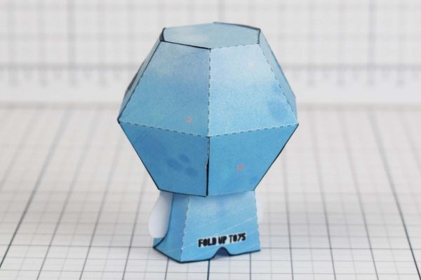 PTI - Blue Baby - Binding of Isaac paper toys image - Back