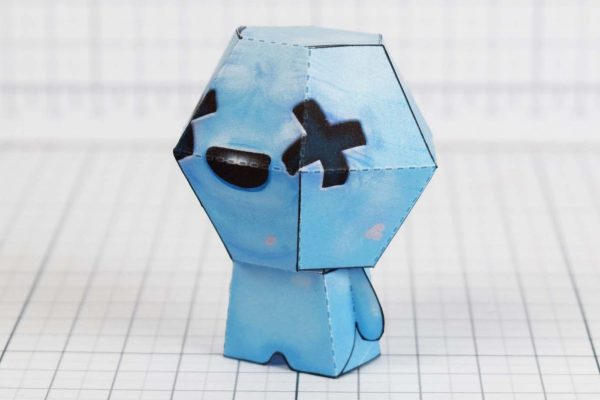 PTI - Blue Baby - Binding of Isaac paper toys image - Side A