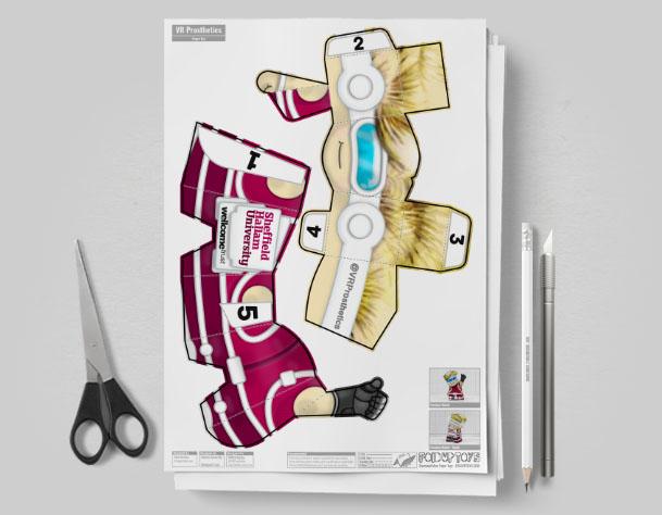 MU - Hallam Prosthetic Project Paper Toy Image - Mockup
