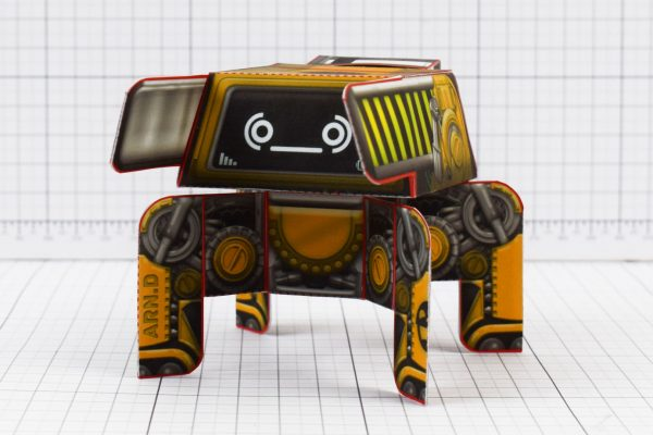 PTI - Arnold Cute Forklift Robot Paper Toy Image - Low