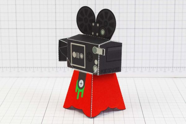 PTI - Media Monsters Camera Paper Toy Image - Back