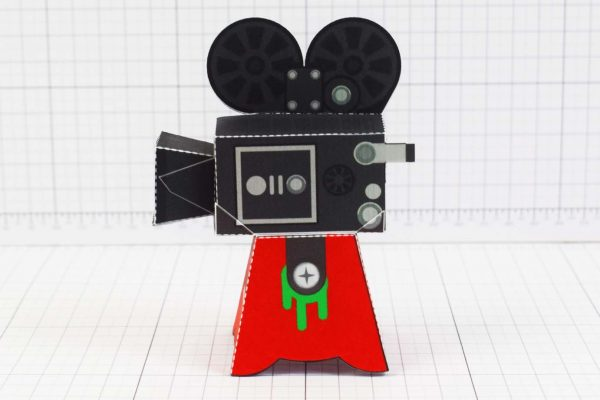 PTI - Media Monsters Camera Paper Toy Image - Side